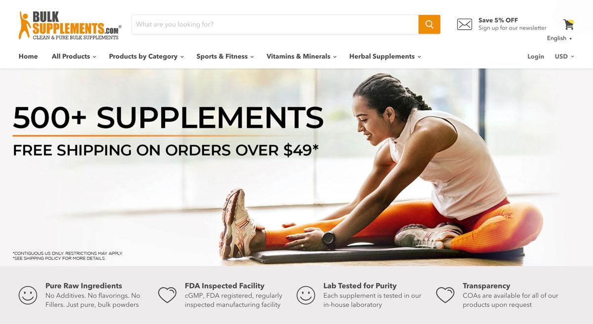 bulksupplements main page
